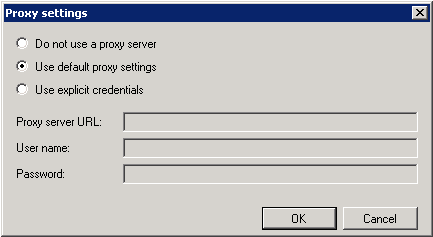 proxy settings dialog